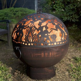 Full Moon Party Dome Steel Wood Burning Fire Pit By Good Directions