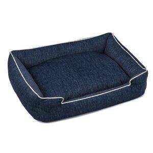 Plush Velour Lounge Dog Bed