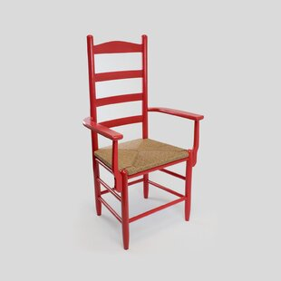 Pellegrin Ladderback Solid Wood Dining Chair Gracie Oaks