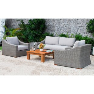 Branford 4 Piece Sofa Set with Cushions