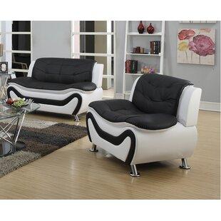 Jung Modern 2 Piece Living Room Set