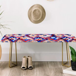 East Urban Home Cayenablanca Peacock Upholstered Bench