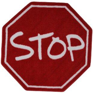 Fun Shape High Pile Stop Sign Area Rug ByFun Rugs