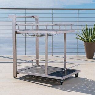 Wade Logan Thurso Outdoor Aluminum Bar Cart