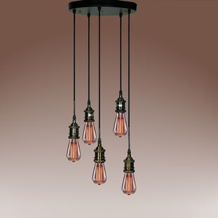Tanya 5-Light Cluster Pendant by Warehouse of Tiffany