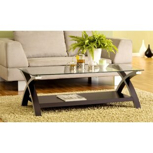 Jarmon Cross Legs Coffee Table by Orren Ellis