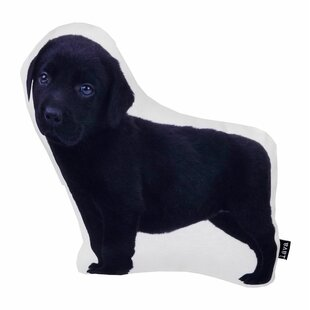 Black Lab Christmas Pillow | Wayfair