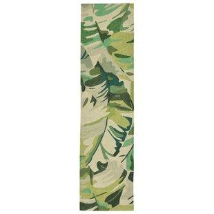 Rachael Hand-Tufted Green Indoor/Outdoor Area Rug