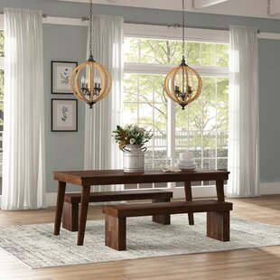 Stodola 3 Piece Solid Wood Dining Set