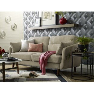 Chloe Mid-Century Modern Sofa by Elle Decor New