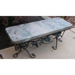 Ocean Splash Jade Garden Bench by Stone Age Creations