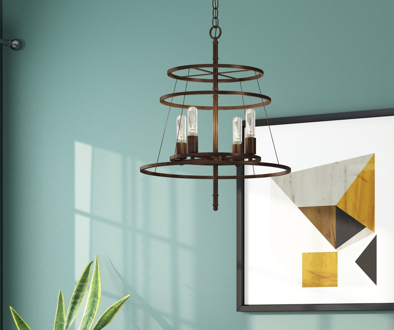 Langley Street Saturnino 4-Light Candle-Style Chandelier & Reviews ...