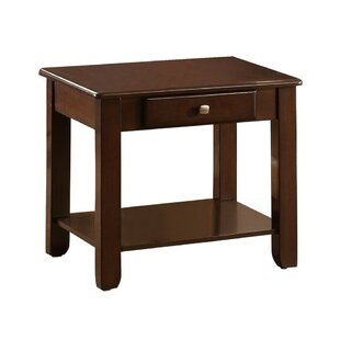 Bellin Wooden End Table with Storage by Canora Grey