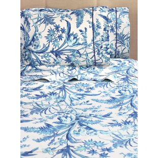 Laforge Floral 400 Thread Count 100% Cotton Sheet Set