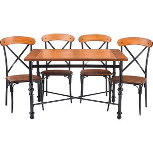 Aanya 5-Piece Dining Set by 17 Stories