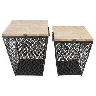 Pickrell Metal 2 Piece Nesting Tables