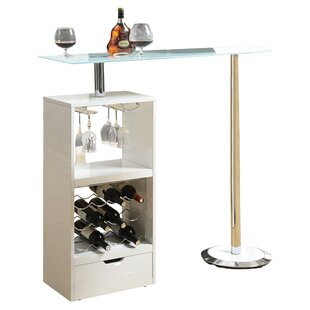 Modern Contemporary Bar Table With Wine Rack Allmodern