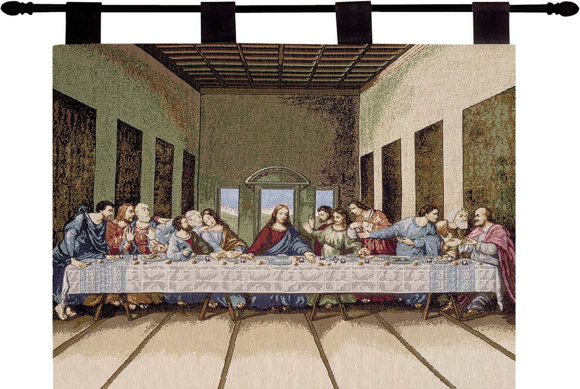 Last supper wall decor with mirror