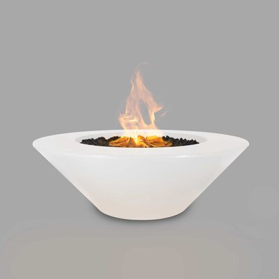 The Outdoor Plus Cazo Concrete Fire Pit  Finish: Limestone, Fuel Type: Natural Gas