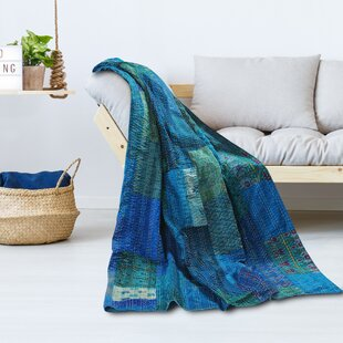 Kantha Hand Block Throw