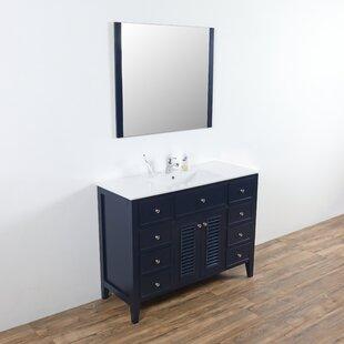 Spillers 48 Single Bathroom Vanity Set with Mirror By Breakwater Bay