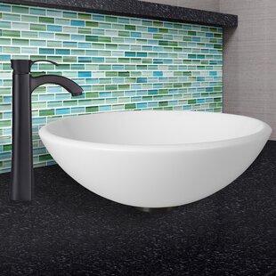 Purchase Phoenix Stone Circular Vessel Bathroom Sink with Faucet By VIGO