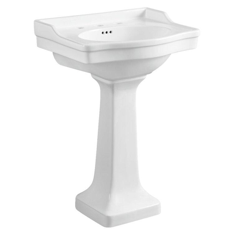 Kingston Brass Victorian Ceramic U Shaped Pedestal Bathroom Sink With Overflow Reviews Wayfair