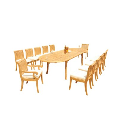Massenburg 13 Piece Teak Dining Set by Rosecliff Heights Reviews
