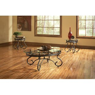 Winston Porter Clausen 3 Piece Coffee Table Set