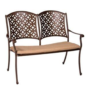 Woodard Casa Aluminium Garden Bench with Cushion