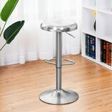 Audella Swivel Adjustable Height Bar Stool by Latitude Run®