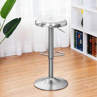 Audella Swivel Adjustable Height Bar Stool by Latitude Run