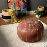 20 Wide Round Floral Pouf Ottoman by AllModern