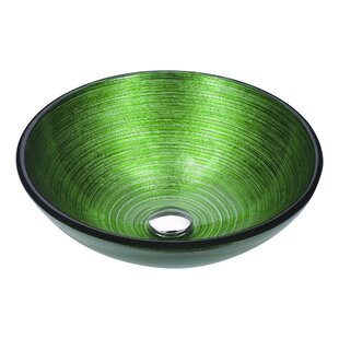 ANZZI Posh Glass Circular Vessel Bathroom Sink