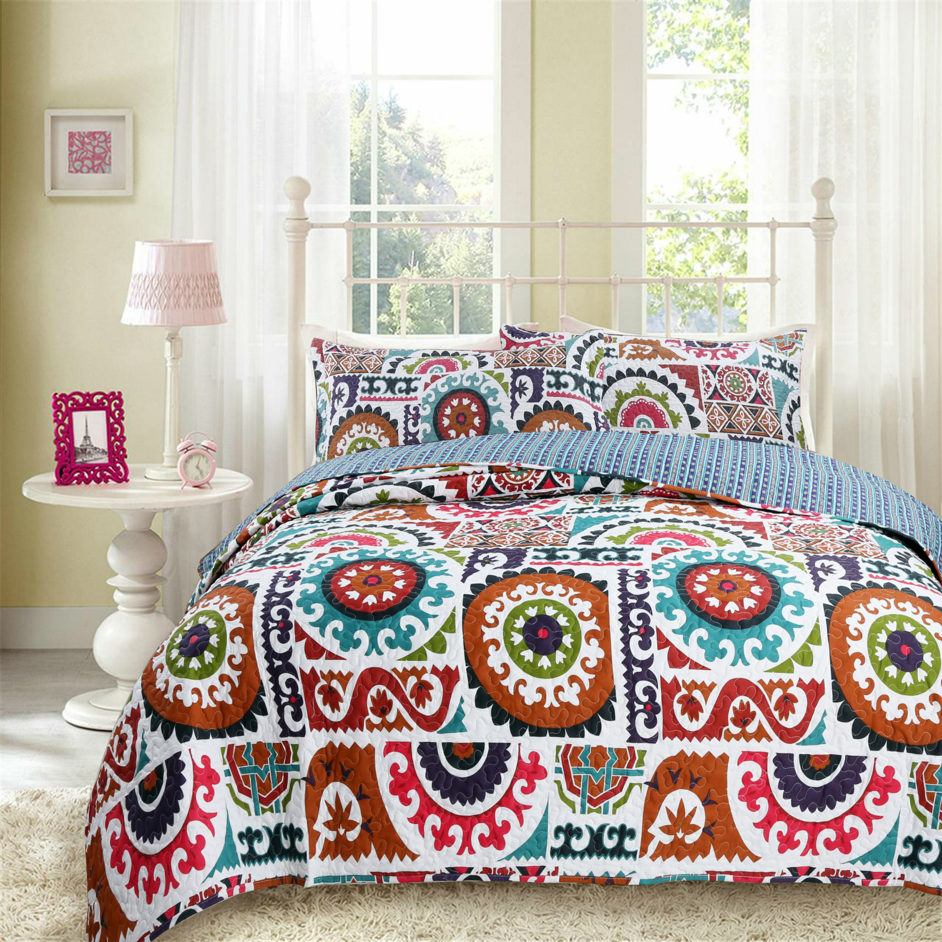 deals paisley shopping modern on at alibaba com colorful ethnic quilt cover get bohemian piece cheap quotations line quilts duvet boho set reversible find striped pattern bedding cotton guides