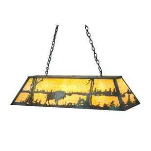 Buffalo at Lake Oblong 9-Light Pendant by Meyda Tiffany