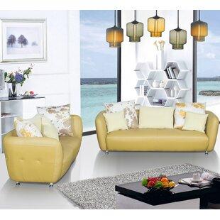 Sandee 2 Piece Leather Living Room Set ByLatitude Run