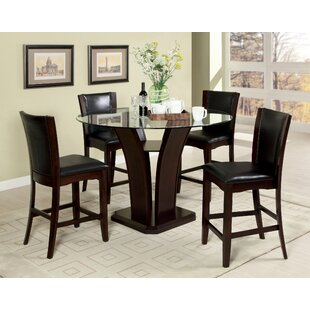 Uptown 5 Piece Pub Table Set Hokku Designs
