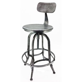 Arthur Adjustable Height Swivel Bar Stool (Set of 2) Vandue Corporation