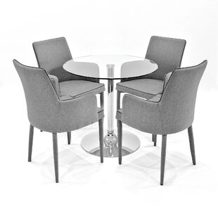 Ironwood Dining Set With 4 Chairs By Metro Lane