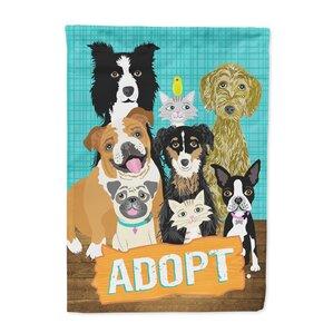 Adopt Pets Adoption 2 Sided Garden Flag