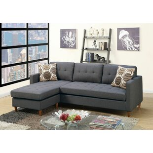 Don Upholstered Reversible Sectional George Oliver
