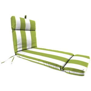 Outdoor Striped Chaise Lounge Cushion