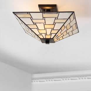 Buell Tiffany 2-Light Semi Flush Mount by Canora Grey