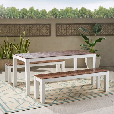 Benedetta 3 Piece Dining Set by Trent Austin Design Top Reviews