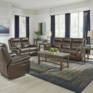 Sasheer Power Motion Reclining 3 Piece Leather Living Room Set
