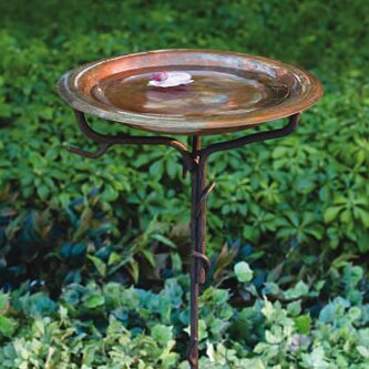 Sienna Glass Green Circle Hanging Bird Feeder Handmade Garden Outdoor Ornament