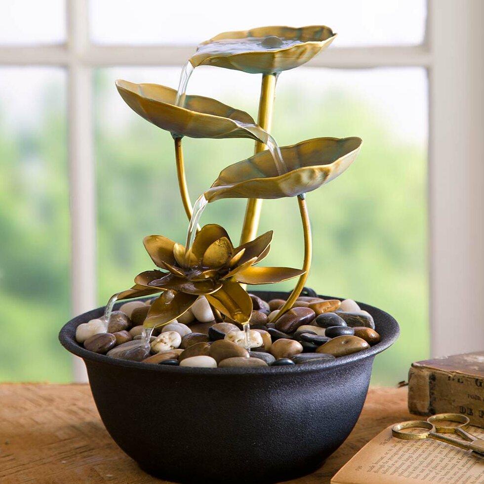 Wind Weather Water Lily Indoor Fountain Reviews Wayfair