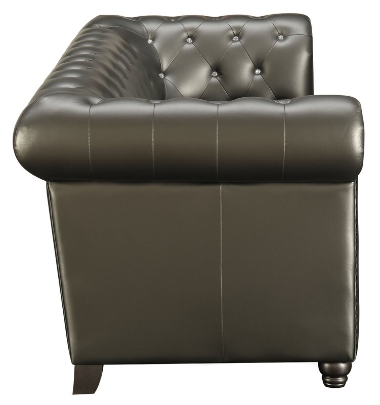 Lucey Leather Chesterfield Sofa