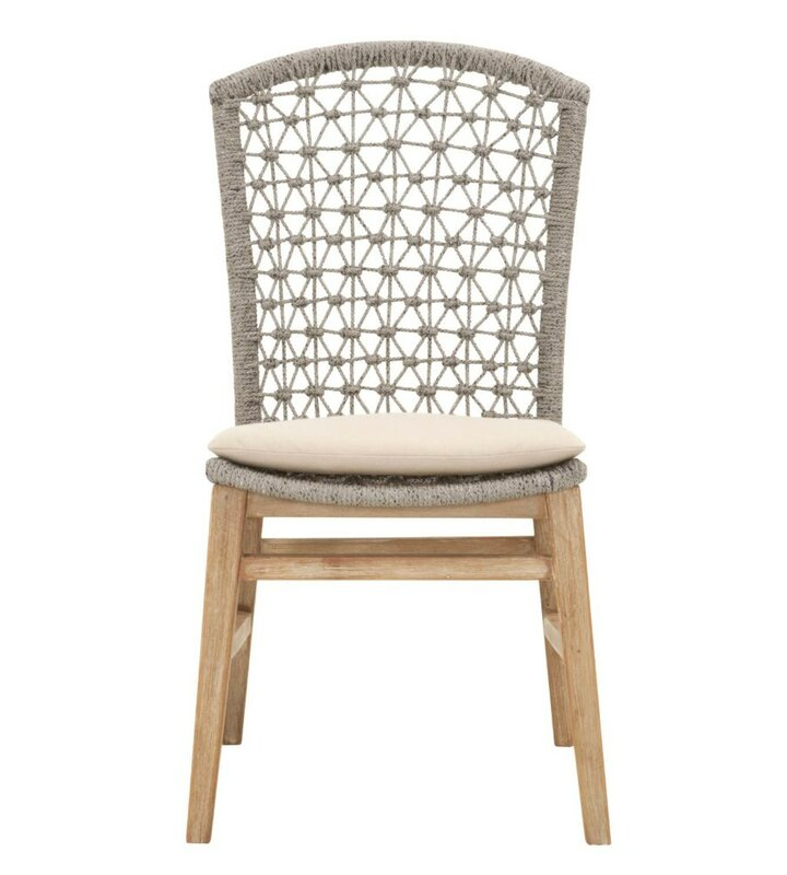 Gutierrez Wooden Armless Upholstered Dining Chair